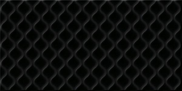 Плитка настенная  керамическая Deco рельеф черный DEL232D-60