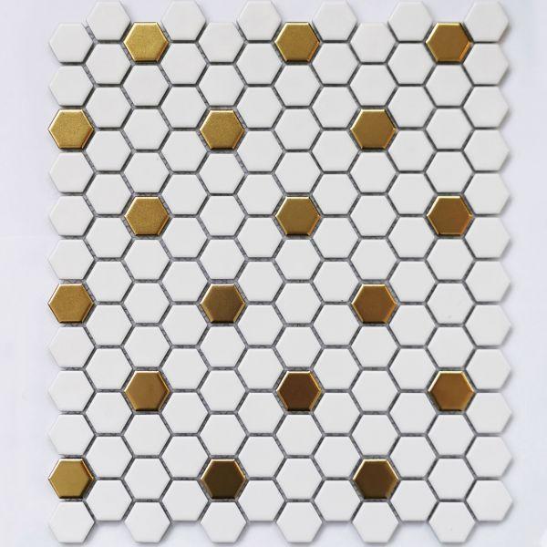 Плитка мозаика Bonaparte Babylon Gold matt